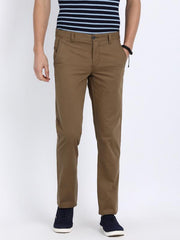t-base men's brown slim straight chinos
