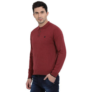 t-base Port Royale Polo Neck Solid Sweater