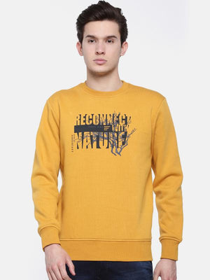 t-base Off-White Solid Crew Neck Sweatshirt