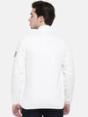 t-base White Solid Mock Collar Sweatshirt