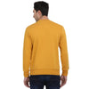 t-base Yellow Printed Graphic Round Neck Sweatshirt