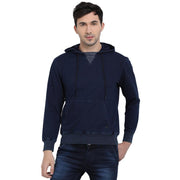t-base Indigo Self Striped Hooded Sweatshirt