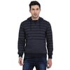 t-base Navy Striped Hooded Sweatshirt