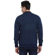 t-base Indigo Solid Mock Collar Sweatshirt