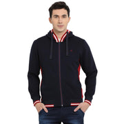 t-base Navy Solid Hooded Sweatshirt