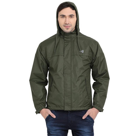 Olive Waterproof Rainwear Jacket - tbase