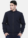 t-base Navy Solid Sporty Jacket