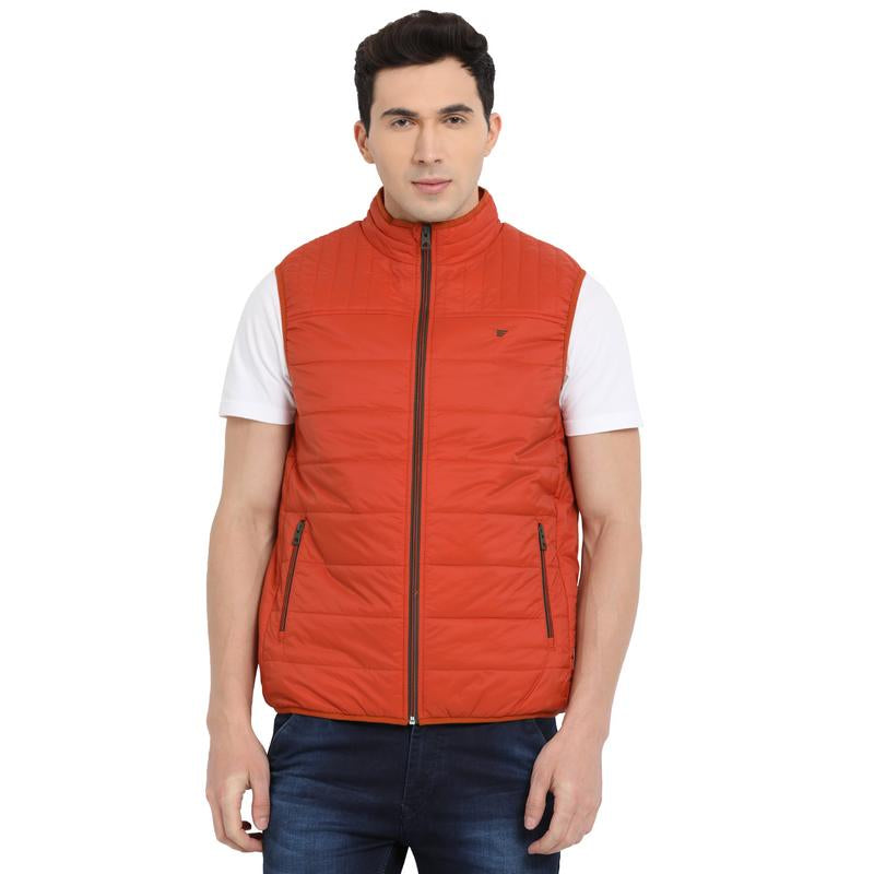 t-base rust sleeveless padded jacket