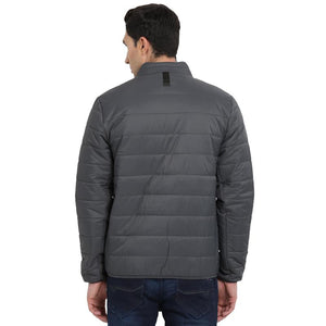 t-base charcoal grey solid padded jacket