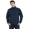 t-base blue solid bomber jacket