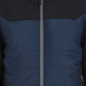 t-base navy solid padded jacket