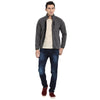 t-base grey self design sporty jacket