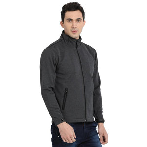 t-base grey solid sporty jacket