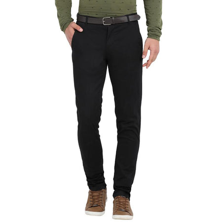 t-base men's black tapered fit chinos