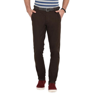 t-base men's brown regular fit chinos