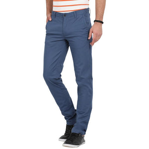 t-base men's blue tapered fit chinos