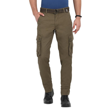t-base men's olive slim fit cargos