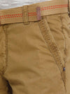 t-base men's brown solid cargo pants