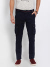 t-base men's navy solid cargo pants