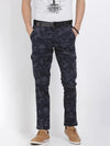 t-base men's navy camo print cargo pants