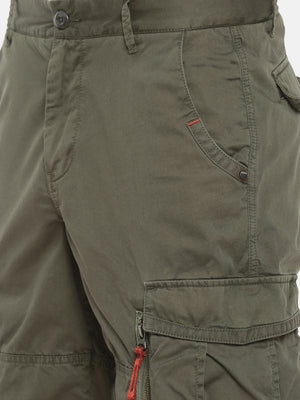 t-base green solid cargo shorts