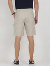 t-base grey cotton solid lounge shorts