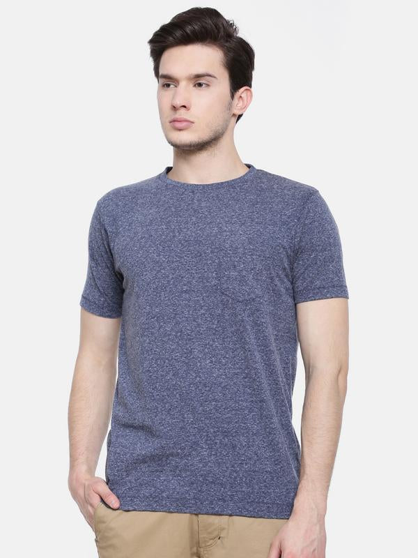 t-base men's navy crew neck solid t-shirt