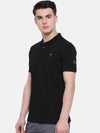 t-base men's navy polo neck solid t-shirt