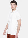 t-base men's off-white polo neck solid t-shirt