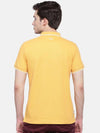t-base men's yellow polo neck solid t-shirt