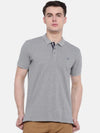 t-base Grey Polo Neck Solid T-Shirt