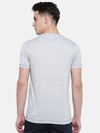 t-base Grey V-Neck Solid T-Shirt