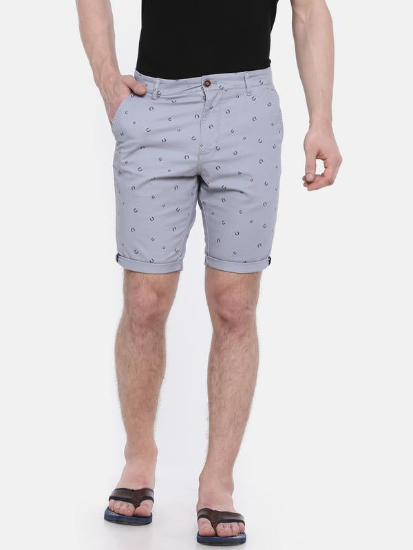 t-base blue cotton printed fold up short
