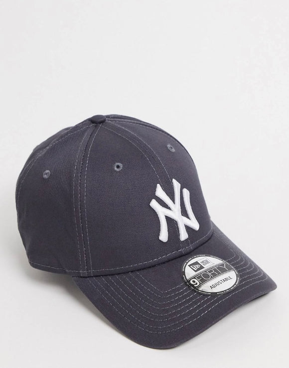 New Era NY 9Forty Baseball Adjustable Cap (Graphite Grey)