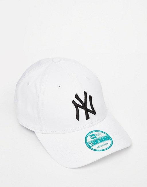 New Era NY 9Forty Baseball Adjustable Cap(White)