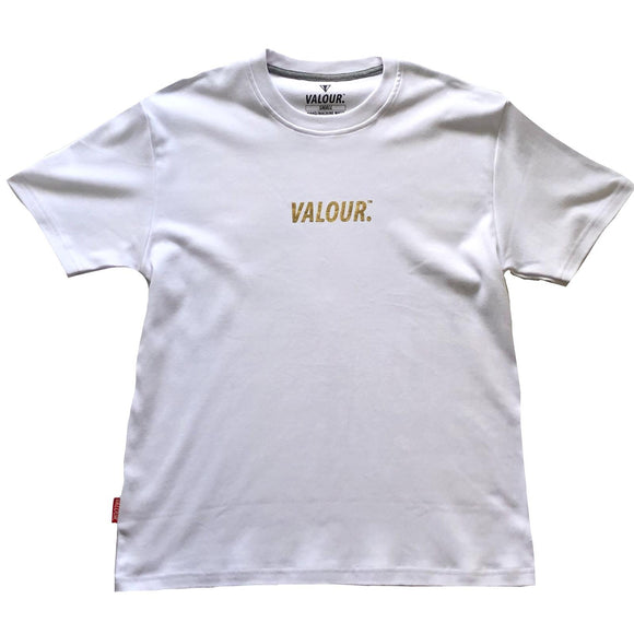 Valour Gold Foil Streetwear T-Shirt (White)