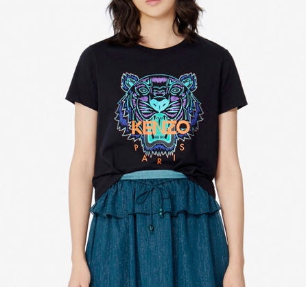 Kenzo Women's 'Holiday Capsule' Tiger Tee (Black)