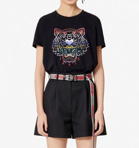 Kenzo Women's Gradient Tiger Tee (Black)
