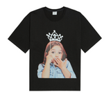 ADLV Baby Girl Face Tiara Tee (Black)