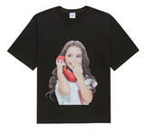 ADLV Baby Girl Face Phone Tee (Black)