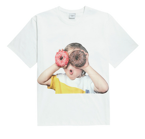 ADLV Baby Boy Face Donuts 1 Tee (White)