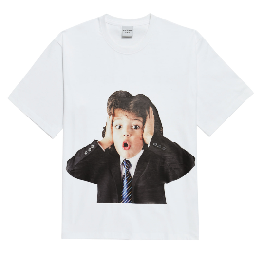 ADLV Baby Boy Face Beethoven Tee (White)