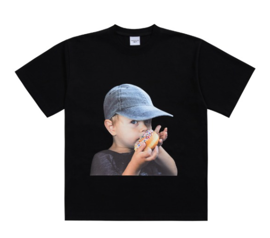 ADLV Baby Boy Face Cap Boy Tee (Black)