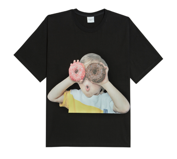 ADLV Baby Boy Face Donuts 1 Tee (Black)