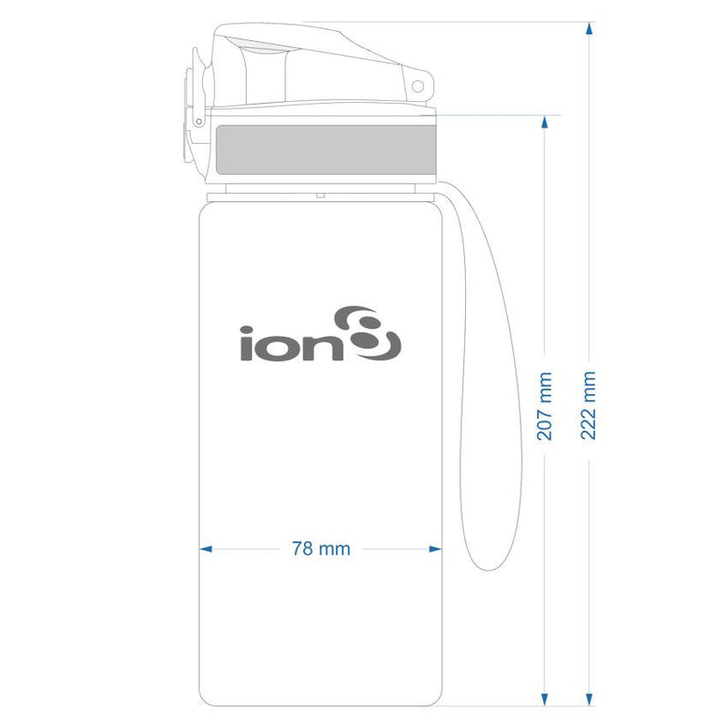 Ion8 Leak Proof Cycling Water Bottle, BPA Free, 750ml / 24oz, Onyx - Leakproof.co.uk