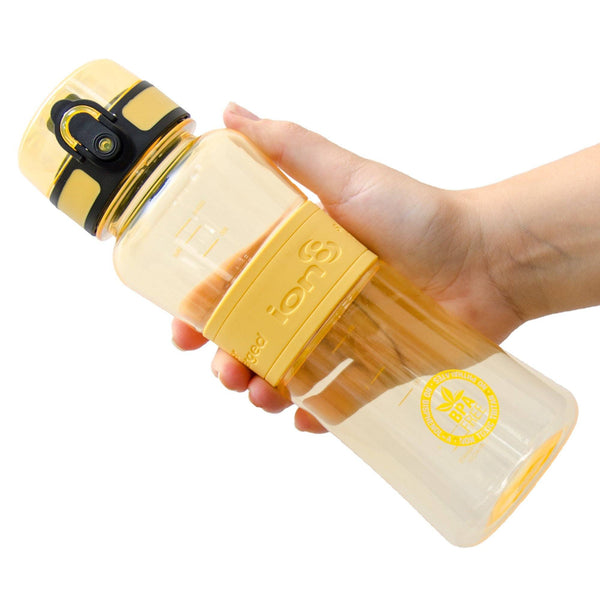 Ion8 Leak Proof Sports Water Bottle, 550ml / 20oz, Yellow - Leakproof.co.uk
