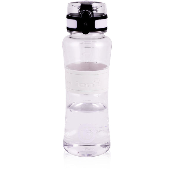 Ion8 Leak Proof Sports Water Bottle, 550ml / 20oz, White - Leakproof.co.uk