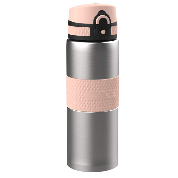 Ion8 Leak Proof Steel Flask, Vacuum Insulated, Sparkling Steel Rose, 360ml