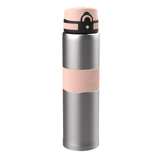 Ion8 Leak Proof Steel Flask, Vacuum Insulated, Sparkling Steel Rose, 480ml