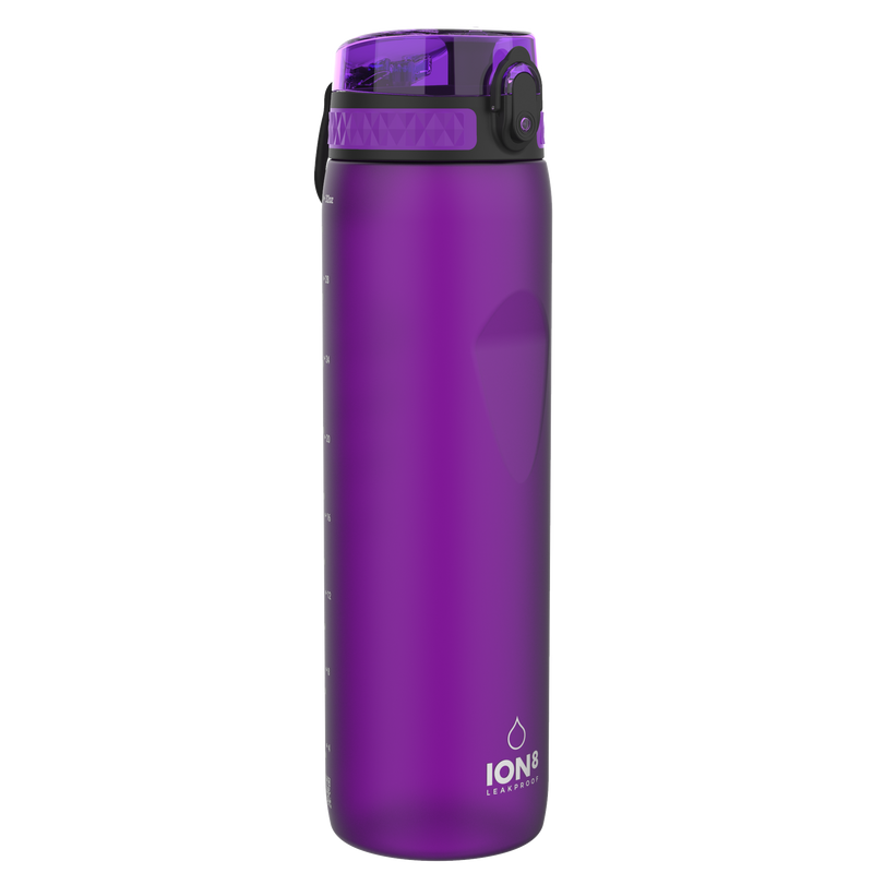 Ion8 Leak Proof 1 Litre Water Bottle, BPA Free, 1000ml / 32oz, Purple